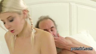 Innocent schoolgirl is seduced and pounded by aged mentor85B
