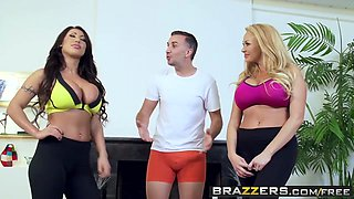 Brazzers - Real Wife Stories - August Taylor Summer Brielle Keiran Lee - Working Out The Wives