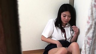 Spied asian teen caught