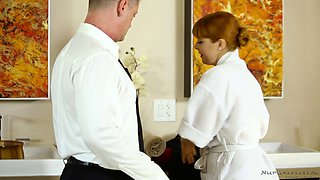 Sexy shower and massage with horny Penny Pax and Eric Masterson