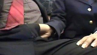 Blowjob on bus