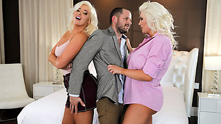 Karissa Shannon & Kristina Shannon & Scott Nails in Titillating Treachery - BRAZZERS