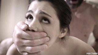 Charles Dera fucks young Italian housemaid Valentina Nappi in the bath room