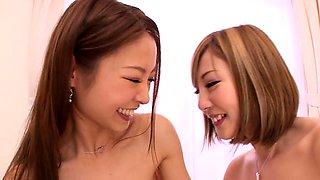 Fascinating Korean girls enjoy the pleasures of lesbian love