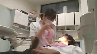 Jerking off at the Japanese dentist office