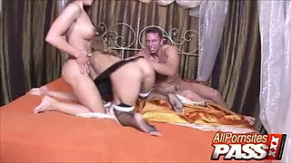 Cathy And Valentina Fucked And Jizzed On By A Muscled Hunk