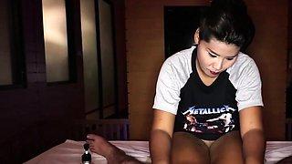 Big ass Thai teen rides her client raw