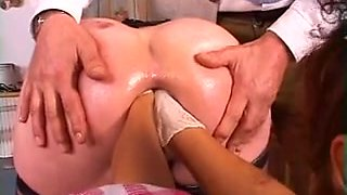 Heidi mature double anal fist