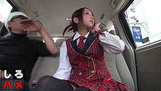 Back of the cab schoolgirl fun