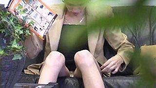 Hidden vids of brunette upskirt voyeur in the beauty parlor