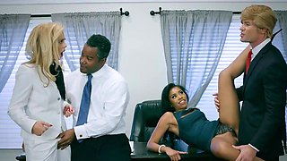Premium office porn with two amazing milfs