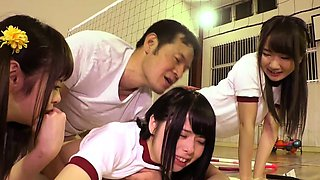 Cute Jav Idol Teens Bibi Yuna Ayu Fucked In The Gym