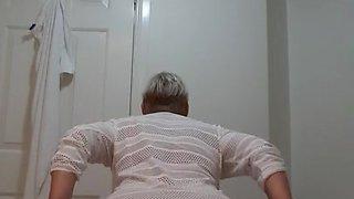 Massive tits granny and her secret vid - UK mature bbw gran