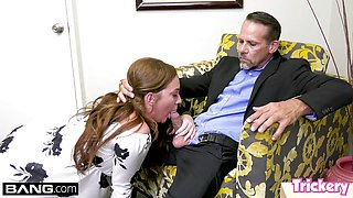Horny Maddy fucks the therapist while her husband waits