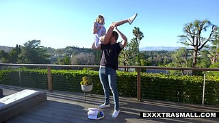 Egghunt Leads to Tiny Flexible Teen Getting Pounded
