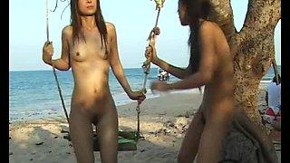 YoungAsianBunnies: Mekumi lesbian watersport