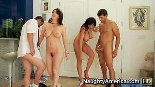 Foursome sex with Alia Janine,  Ralph Long,  Ramon Nomar,  RayVeness