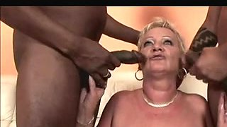Shorthair-Golden-Haired Granny - Bbc double penetration