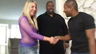 Blonde Swallowing a Big Cock