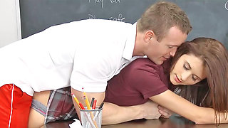 Presley Dawson receiving cunnilingus and getting pounded by her partner