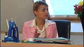 AMELIA BOSS HIM IN OFFICE