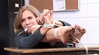 Teacher tied . . .