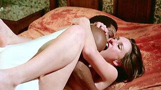 Vintage Brunette Interracial Love