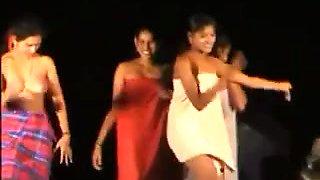Indian Cuties Dancing In Nature's Garb in Public