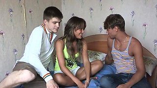 Dazzling russian Jessy bends down for sex