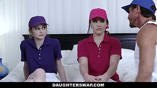 DaughterSwap - Teen Tennis Stars Ride Stepdads Cock