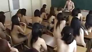 Naked in school Japanese schoolgirls under observation