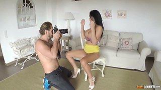 Sluttishly looking slender bitch with big boobs Jasmine Jae gets fucked hard
