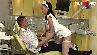 Nurse Dominno needs 300 ccs of Cock - STAT!