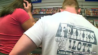 Ava Devine meets sudden oral love in the shop