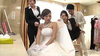 Husband takes bridesmaid in japanese wedding 3