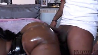 Luxurious black woman with a huge round ass