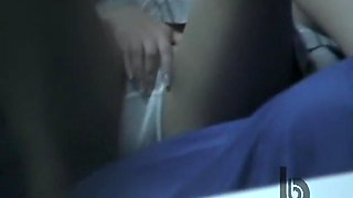 Real close ups with Asian doll on hidden cam masturbation