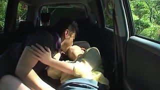 Horny Japanese model Chisato Ayukawa in Incredible Car, Outdoor JAV movie