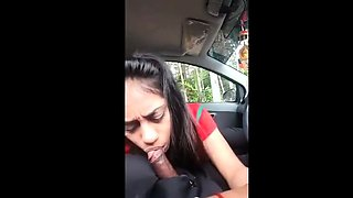 Indian Girl Blowjob in Car