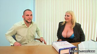 Scarlett's Job Interview - Scarlett Rouge and J Mac - XLGirls