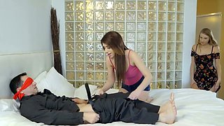 Horny Daughter tricks her dad to fuck her pussy