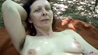 74yr Old Granny With Hairy Pussy Pov Outdoor Sex With Teen
