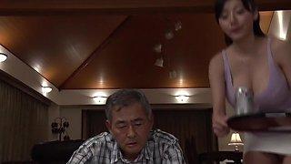 Fabulous Japanese model Yuuri Himeno in Incredible big tits, cougar JAV scene