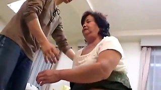 Hairy bbw japanese granny loves taboo
