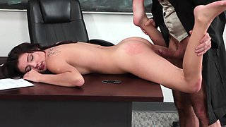 A kinky schoolgirl is getting penetrated by the teacher in the class