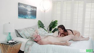 POV amateur video of older boss fucking naughty cougar Coralyn Jewel