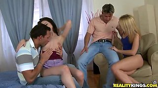 Eurosex of Ann Marie La Sante,  Choky Ice,  Nataly Von and Nick Lang