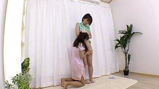 Kana Mi Chan Lesbian Shinpi Stand N On A China Dress
