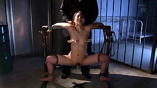 Lustful Asian slut brings her bondage fetish fantasy to life