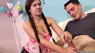 Annika Eve Consoles Her Step Brother